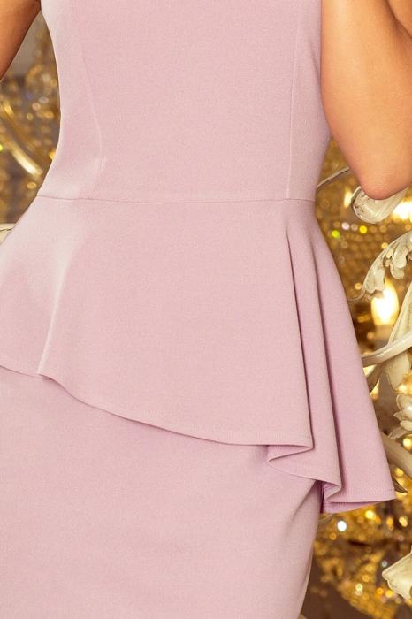 Rochie midi eleganta de ocazie cu peplum Numoco lila 3