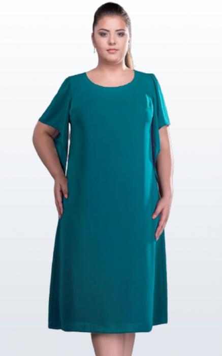 Rochie midi eleganta din voal verde marimi mari [1]