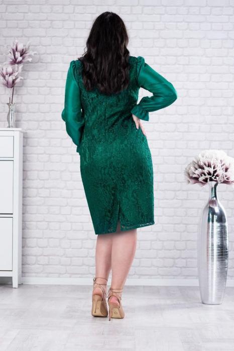 Rochie midi de ocazie din dantela verde Deborah 2