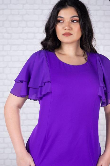 Rochie midi eleganta pentru femei plinute Selina violet 2
