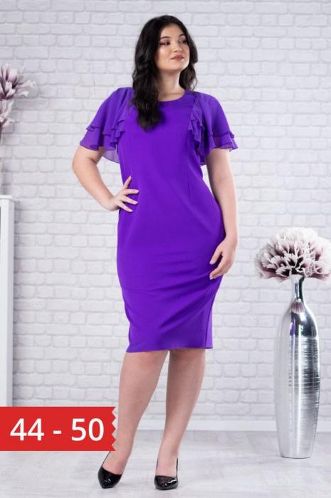 Rochie midi eleganta pentru femei plinute Selina violet 0