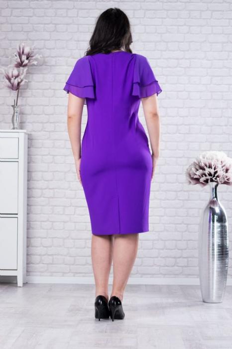 Rochie midi eleganta pentru femei plinute Selina violet 1