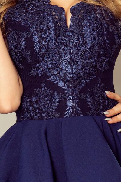 Rochie scurta de seara albastra Charlotte - Rochii scurte elegante 3