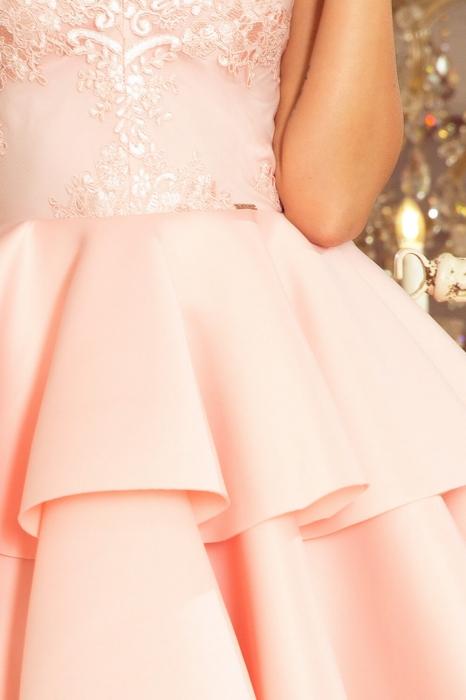 Rochie scurta eleganta de seara Alexis roz pastel 3