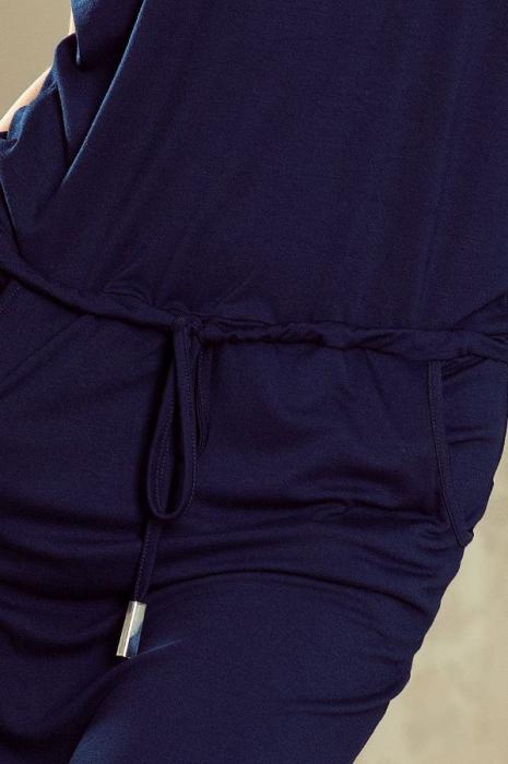 Rochie sport cu buzunare Sorina albastru 3
