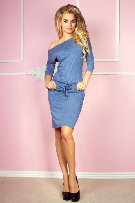 Rochie sport blue jeans cu buzunare - Rochii de vara [0]