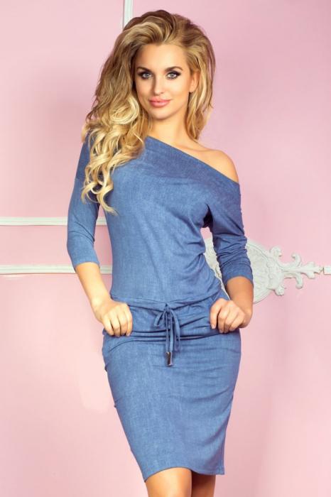 Rochie sport blue jeans cu buzunare - Rochii de vara [1]