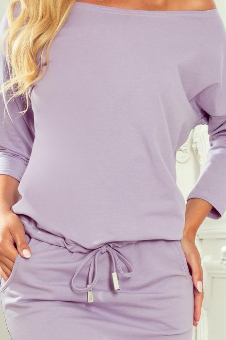 Rochie sport cu buzunare culoare lila - Rochii sport dama [2]