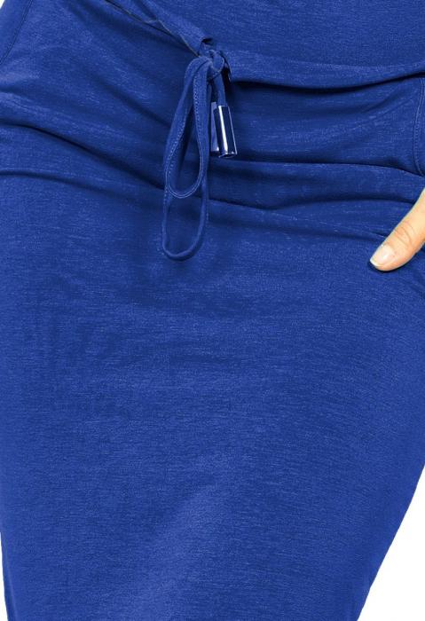 Rochie sport casual cu buzunare si maneca scurta albastru - Numoco [2]