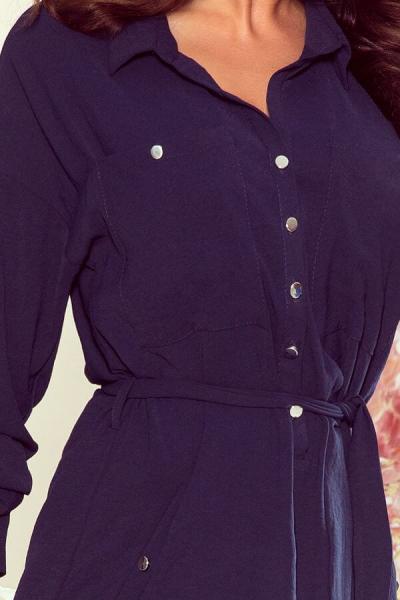Rochie tip camasa Brooke albastru - Rochie casual 3