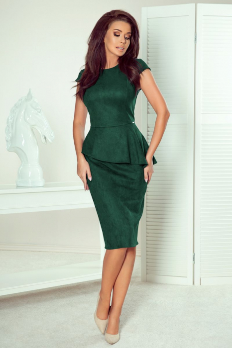 Rochie eleganta verde smarald Numoco - Rochii cu peplum [0]