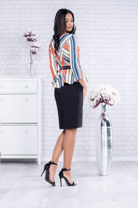 Rochii elegante de zi - Rochie neagra eleganta de zi Candy 2
