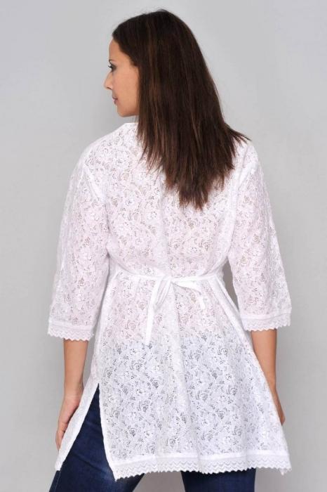 Bluza de plaja - Camasa lunga de vara cu broderie HHG Spania, alb 3