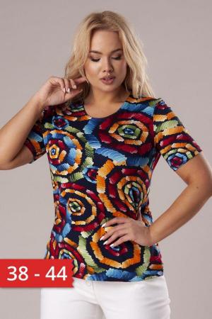Bluza casual de dama cu imprimeu multicolor0
