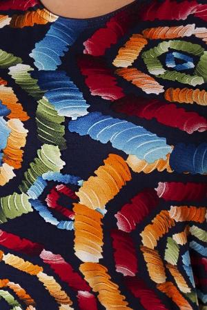Bluza casual de dama cu imprimeu multicolor2