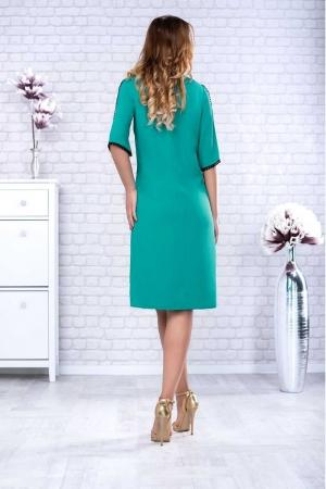 Rochie verde din voal cu dantela neagra Maura1
