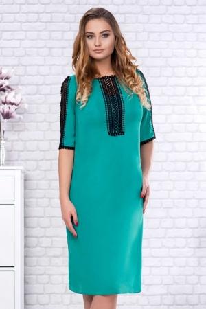 Rochie verde din voal cu dantela neagra Maura2