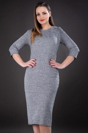 Rochie din tricot marimi mari 44-58 Darla, gri1