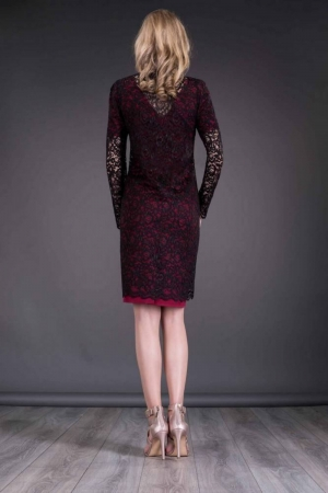 Blazer dama elegant din dantela neagra Paula2
