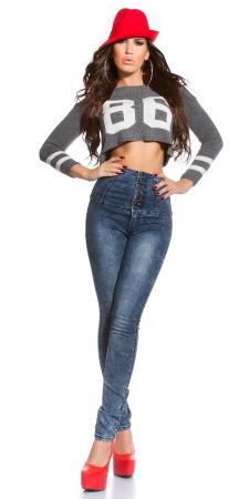 Blugi skinny cu talie inalta blue jeans4