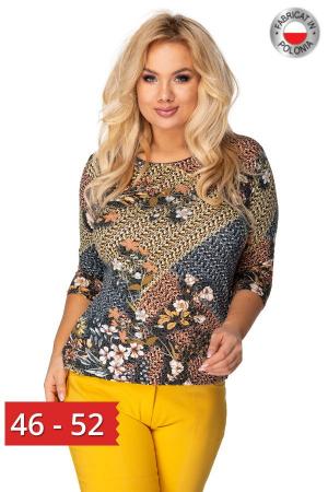 Bluza casual dama cu imprimeu floral multicolor0
