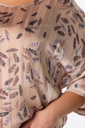 Bluza casual dama cu imprimeu si fir auriu [2]