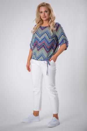Bluza casual de dama cu imprimeu multicolor1