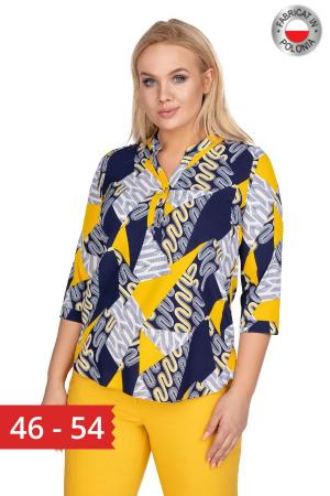 Bluza dama marimi mari bleumarin cu imprimeu0