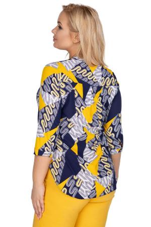 Bluza dama marimi mari bleumarin cu imprimeu1