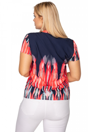 Bluza de vara cu maneca scurta bleumarin1