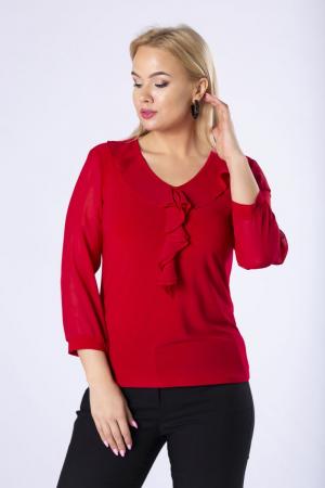 Bluza eleganta dama cu volane - Bluze elegante dama marimi mari [0]