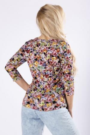 Bluza cu maneca lunga din vascoza si imprimeu floral1
