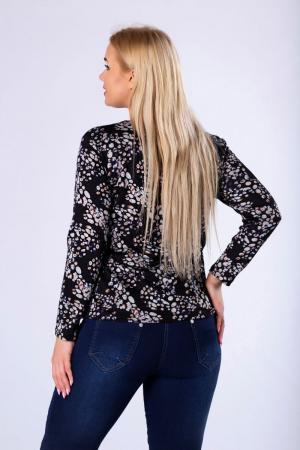 Bluza neagra casual din tricot cu maneci lungi - Marimi mari [1]