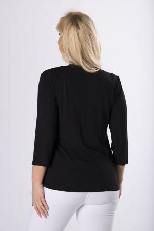 Bluza neagra eleganta cu buline si blazer2