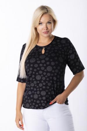 Bluza neagra eleganta cu buline argintii - Marimi mari [2]