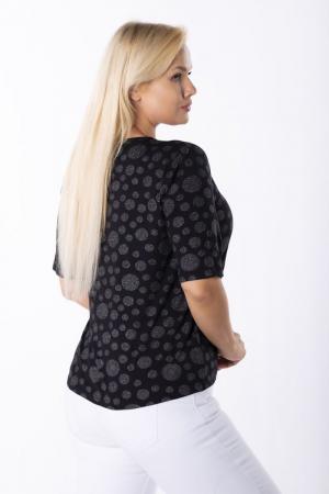 Bluza neagra eleganta cu buline argintii - Marimi mari [1]
