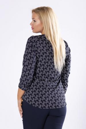 Bluza neagra eleganta cu maneci lungi si imprimeu1