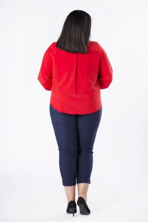 Bluza rosie eleganta cu maneca lunga si funda2