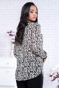 Bluza voal eleganta animal print Catia1