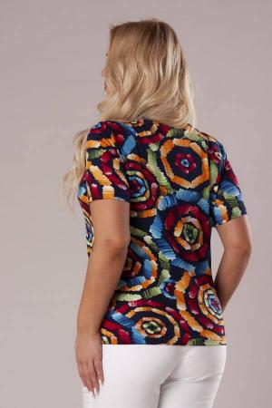 Bluza casual de dama cu imprimeu multicolor3