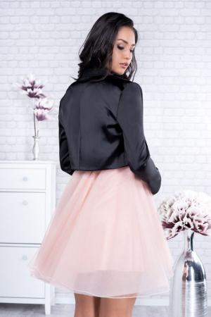 Bolero elegant dama din saten negru - Marimi mari [1]