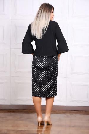 Compleu dama elegant 2 piese rochie si sacou negru1