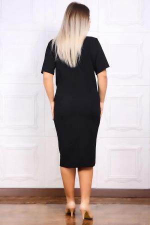 Compleu dama elegant rochie neagra si sacou - Marimi mari [3]