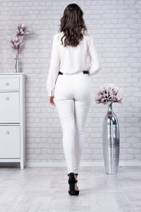 Pantaloni albi eleganti dama Vera2