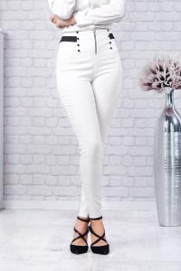 Pantaloni albi eleganti dama Vera1