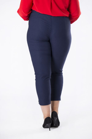 Pantaloni casual dama marimi mari bleumarin2