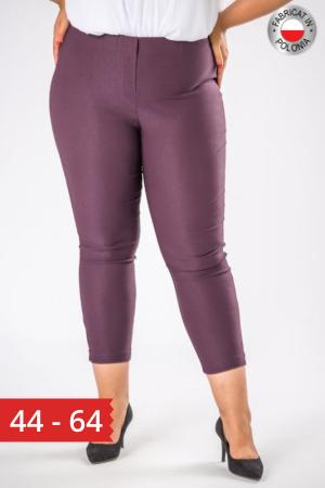 Pantaloni casual dama marimi mari mov pruna0