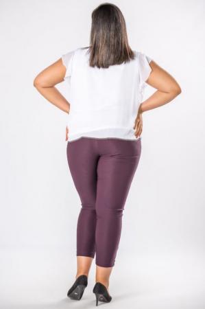 Pantaloni casual dama marimi mari mov pruna1