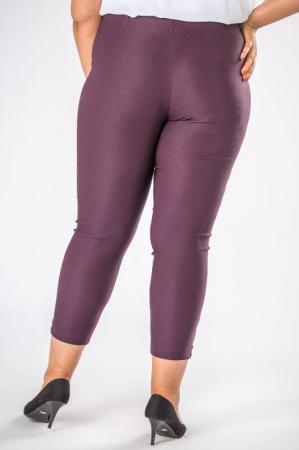 Pantaloni casual dama marimi mari mov pruna3