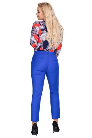 Pantaloni eleganti clasici cu croi conic, albastru2